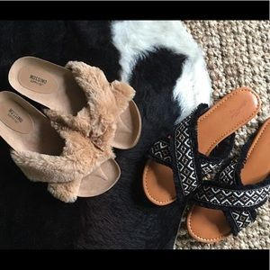 751a10a77632ec Mossimo Supply Co. Shoes - Women s Bella Fur Crossband Footbed Cozy SandalB2